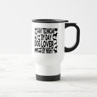 Técnico de la radiografía del amante del perro taza de viaje