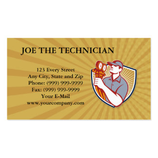 Técnico de la refrigeración tarjetas de visita