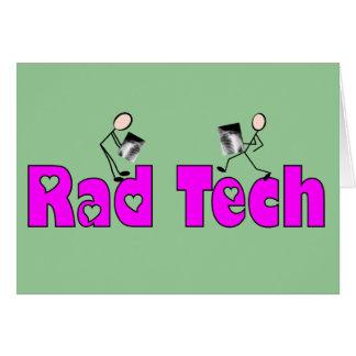 """Técnico """"regalos de la radiología de la tecnología felicitacion"""