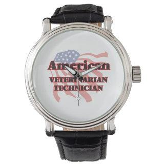 Técnico veterinario americano relojes de pulsera