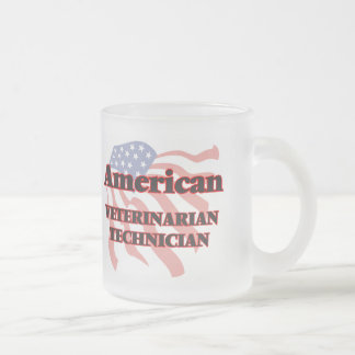 Técnico veterinario americano taza de cristal