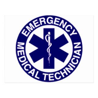 TÉCNICOS MÉDICOS EMT DE LA EMERGENCIA POSTALES