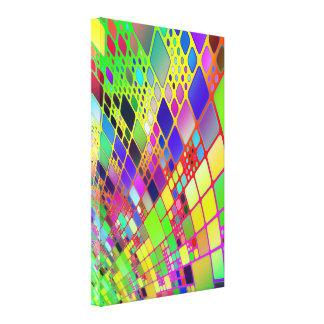 Tecnología abstracta lona envuelta para galerías