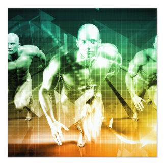 Tecnología avanzada como ÉL fondo del concepto Invitación 13,3 Cm X 13,3cm