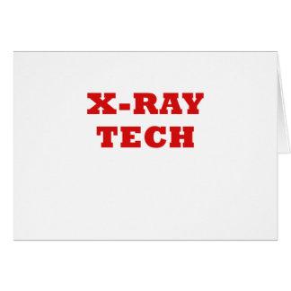 Tecnología de la radiografía tarjeta de felicitación
