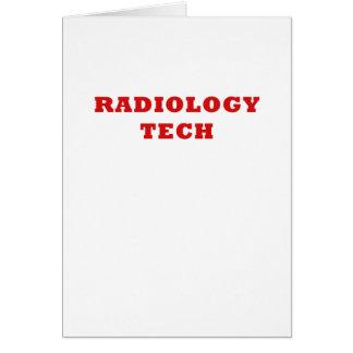 Tecnología de la radiología tarjeta de felicitación