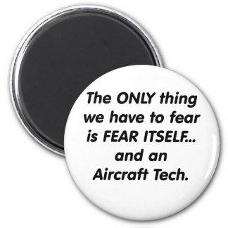 tecnología de los aviones del miedo imán redondo 5 cm