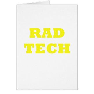 Tecnología del Rad Tarjeta De Felicitación