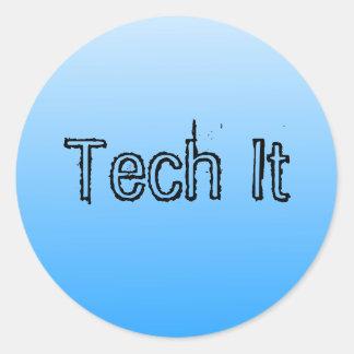 Tecnología él pegatina 1