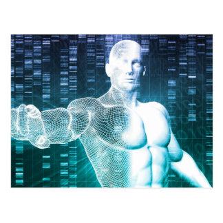 Tecnología médica con el ingeniero del científico postal