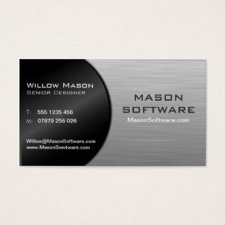 Tecnología negra y acero doblada fresca - tarjeta
