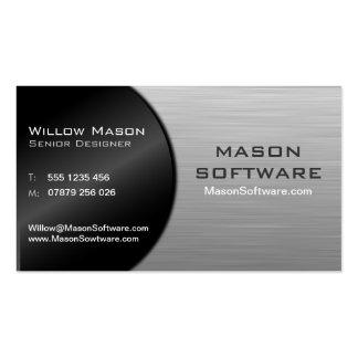 Tecnología negra y acero doblada fresca - tarjeta tarjetas de visita