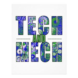 Tecnología y Mech azules Tarjeta Publicitaria