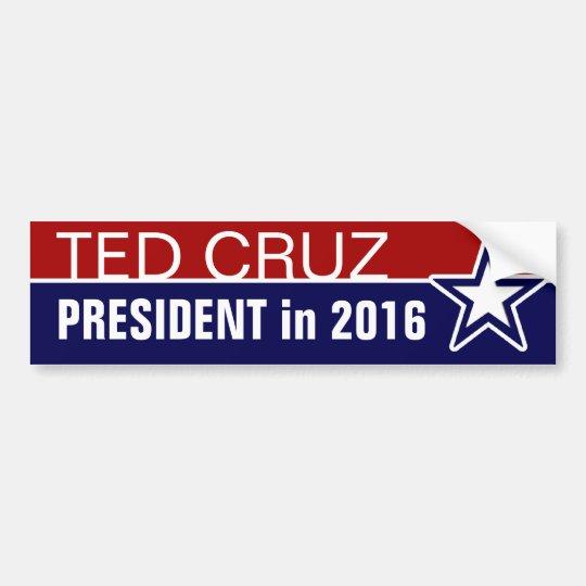 Ted Cruz en 2016 Pegatina Para Coche