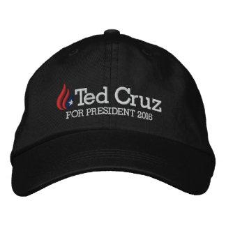 Ted Cruz para el presidente 2016 Gorro Bordado