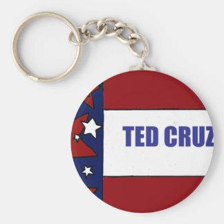 Ted Cruz para presidente Political Flag Art Llavero Redondo Tipo Chapa