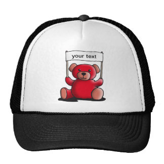 teddy bear with sign for your individual text