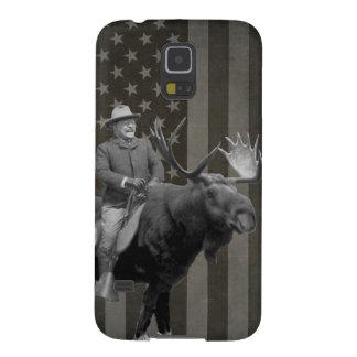 Teddy Roosevelt que monta una caja de los alces de Carcasa Galaxy S5