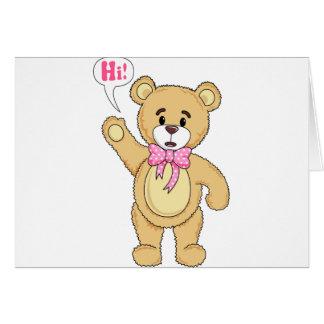 TeddyBearSayingHi.png Tarjeta De Felicitación