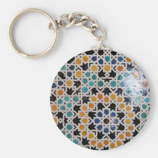 Teja #9 de la pared de Alhambra Llaveros Personalizados