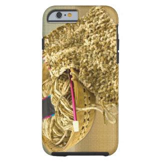 Teja a mano el hilado de la felpilla funda para iPhone 6 tough