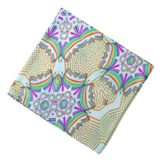 Teja abstracta del multicolor del modelo bandanas
