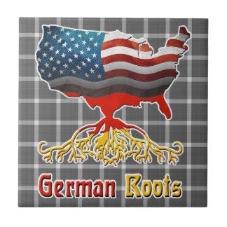 Teja alemana americana de las raíces