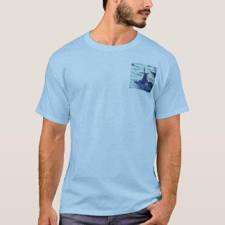 Teja azul antigua de Delft del vintage - molino de Camiseta