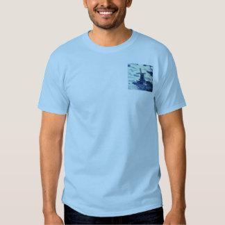 Teja azul antigua de Delft del vintage - molino de Camisetas