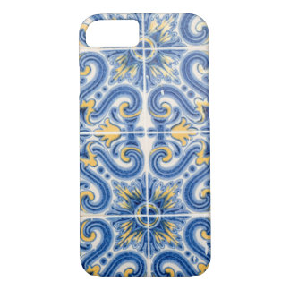Teja azul y amarilla, Portugal Funda Para iPhone 8/7