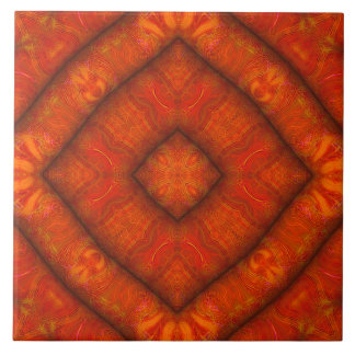 Teja bermellona de la Diamante-Mandala de la