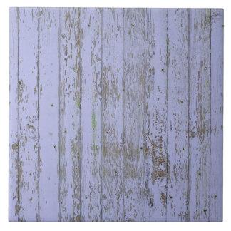 Teja cuadrada grande de la falsa textura de madera