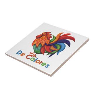 Teja de cerámica de la foto de De Colores Rooster