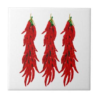 Teja de la cocina de las pimientas de chile rojo