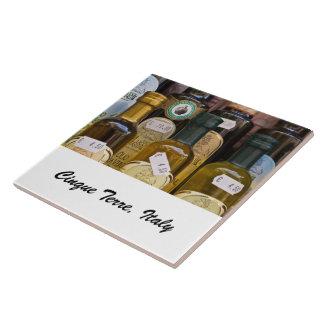 Teja de la foto - aceites de oliva - Cinque Terre,