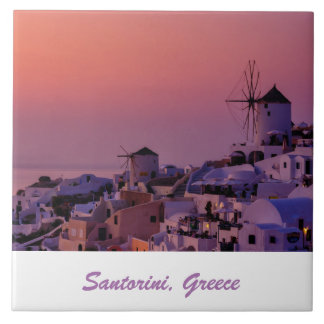 Teja de la foto - puesta del sol de Santorini -