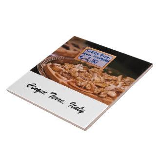 Teja de la foto - torta del postre - Cinque Terre,