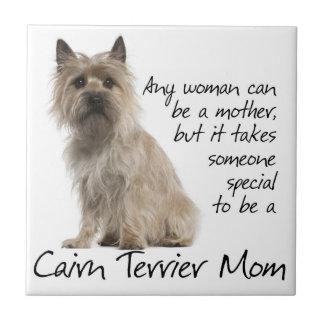 Teja de la mamá de Terrier de mojón