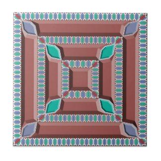 Teja de mosaico marroquí