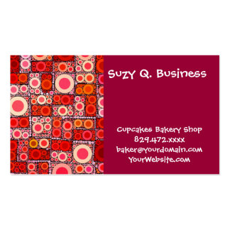 Teja de mosaico moderna fresca del rojo anaranjado tarjetas de visita