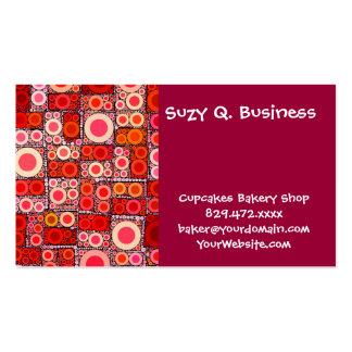 Teja de mosaico moderna fresca del rojo anaranjado tarjeta de visita