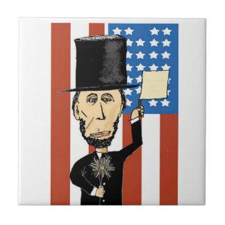 Teja de presidente Lincoln Small Ceramic Photo