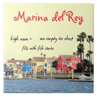 Teja decorativa del Haiku de la pesca de Marina De