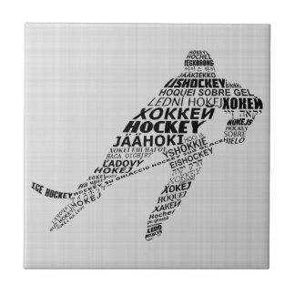 Teja del arte del texto de las idiomas del hockey