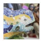 Teja del dragón de Guell del parque