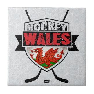 Teja del escudo del hockey sobre hielo Galés