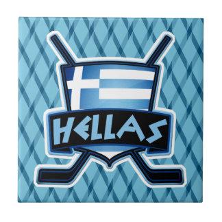 Teja del logotipo de la bandera del hockey sobre