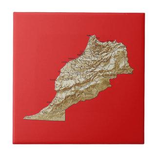 Teja del mapa de Marruecos