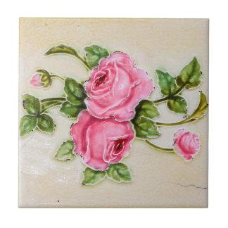 Teja floral subió vintage