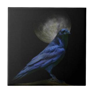 Teja gótica del arte de la magia negra del cuervo